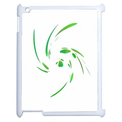 Green twist Apple iPad 2 Case (White)