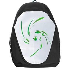 Green twist Backpack Bag