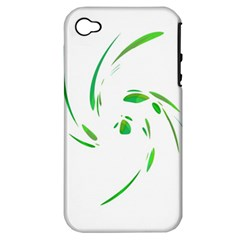 Green twist Apple iPhone 4/4S Hardshell Case (PC+Silicone)