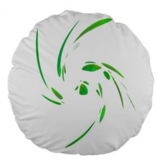Green twist Large 18  Premium Round Cushions