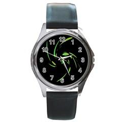 Green Twist Round Metal Watch