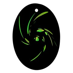 Green Twist Ornament (Oval)