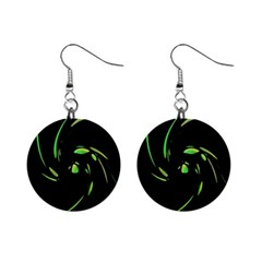 Green Twist Mini Button Earrings