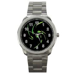 Green Twist Sport Metal Watch