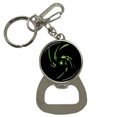 Green Twist Bottle Opener Key Chains