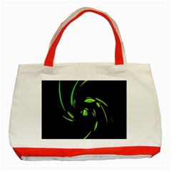 Green Twist Classic Tote Bag (Red)