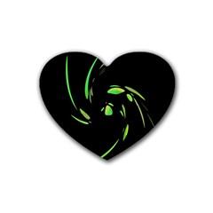 Green Twist Rubber Coaster (Heart)