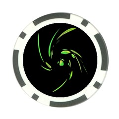 Green Twist Poker Chip Card Guards (10 pack)