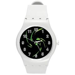 Green Twist Round Plastic Sport Watch (M)