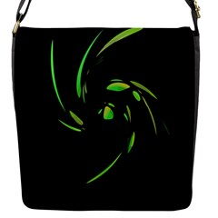 Green Twist Flap Messenger Bag (S)