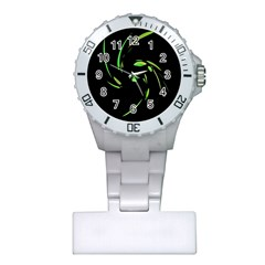 Green Twist Plastic Nurses Watch