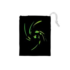 Green Twist Drawstring Pouches (Small)