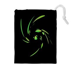 Green Twist Drawstring Pouches (Extra Large)