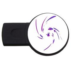 Purple twist USB Flash Drive Round (1 GB)