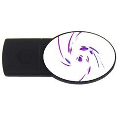Purple twist USB Flash Drive Oval (1 GB)