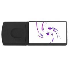 Purple twist USB Flash Drive Rectangular (2 GB)