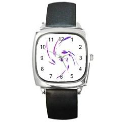 Purple twist Square Metal Watch