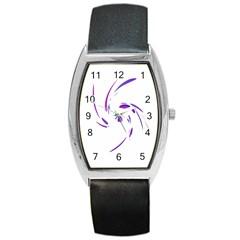 Purple twist Barrel Style Metal Watch
