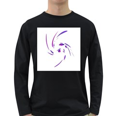 Purple twist Long Sleeve Dark T-Shirts