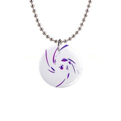 Purple twist Button Necklaces
