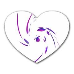 Purple twist Heart Mousepads