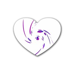 Purple twist Heart Coaster (4 pack)