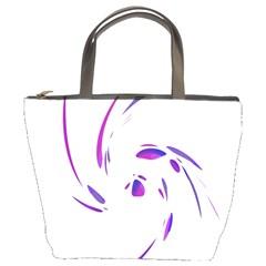 Purple twist Bucket Bags