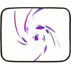 Purple twist Fleece Blanket (Mini)
