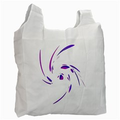 Purple twist Recycle Bag (One Side)