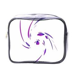 Purple twist Mini Toiletries Bags