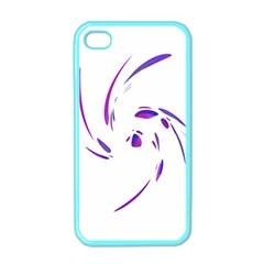 Purple Twist Apple Iphone 4 Case (color)