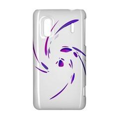 Purple twist HTC Evo Design 4G/ Hero S Hardshell Case