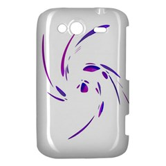 Purple twist HTC Wildfire S A510e Hardshell Case