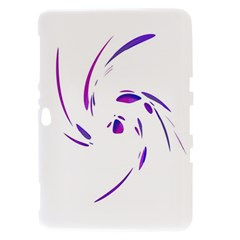 Purple twist Samsung Galaxy Tab 8.9  P7300 Hardshell Case