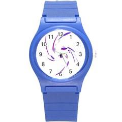 Purple twist Round Plastic Sport Watch (S)