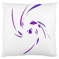 Purple twist Large Cushion Case (Two Sides)