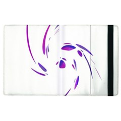Purple twist Apple iPad 2 Flip Case