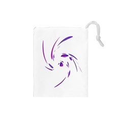 Purple twist Drawstring Pouches (Small)