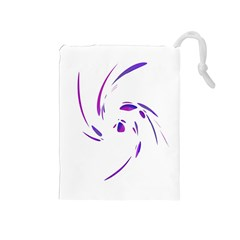 Purple twist Drawstring Pouches (Medium)