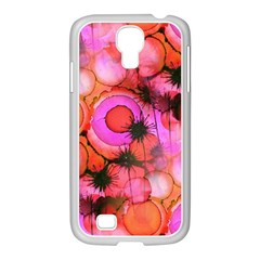 Palm Trees on Sunset Stains Samsung GALAXY S4 I9500/ I9505 Case (White)