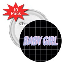 Baby Girl 2.25  Buttons (10 pack)