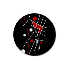 Artistic abstraction Rubber Round Coaster (4 pack)