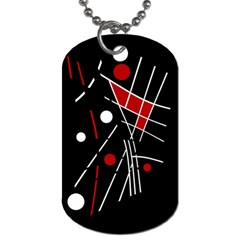 Artistic abstraction Dog Tag (One Side)