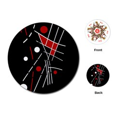Artistic abstraction Playing Cards (Round)