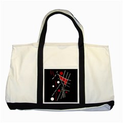 Artistic abstraction Two Tone Tote Bag