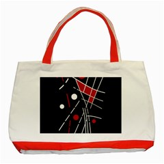 Artistic abstraction Classic Tote Bag (Red)