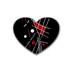 Artistic abstraction Rubber Coaster (Heart)