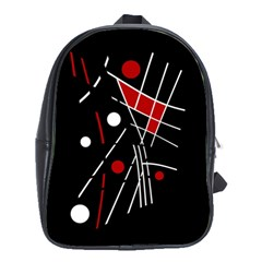 Artistic abstraction School Bags(Large)