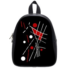 Artistic abstraction School Bags (Small)