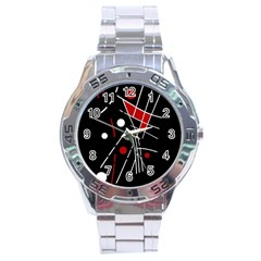 Artistic abstraction Stainless Steel Analogue Watch